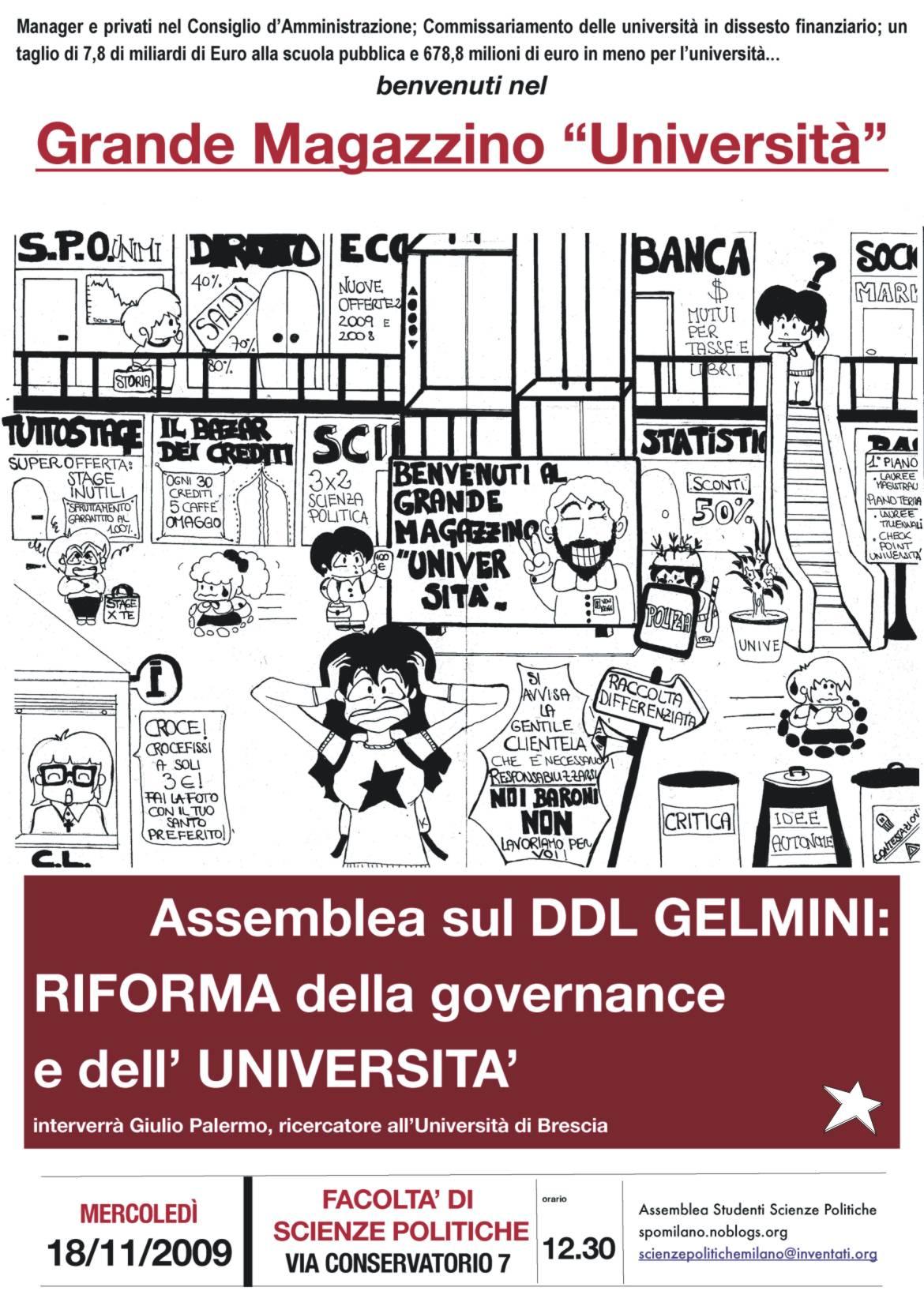 locandina assemblea sulla governance
